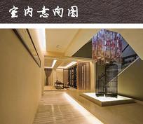 中式会所室内摆件装饰