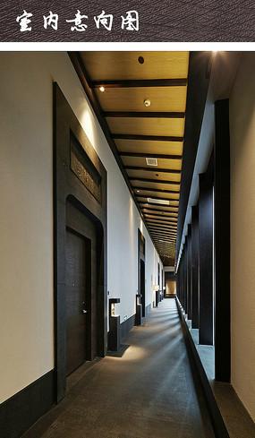 中式韵味酒店走道装修