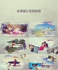 爱情旅行相册AE模板