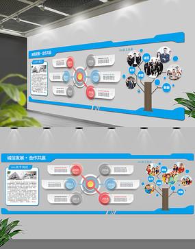 大气企业文化墙展板