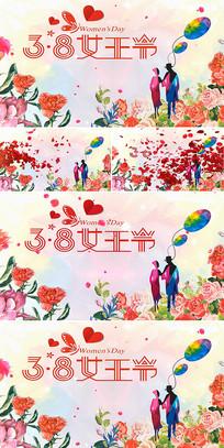美丽女人节38妇女节晚会背景视频