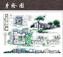 中式住宅景观快题设计
