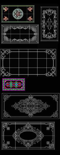 CAD欧式地花纹图