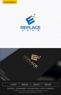 E字母logo 数码logo