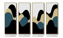 北欧极简四联装饰画