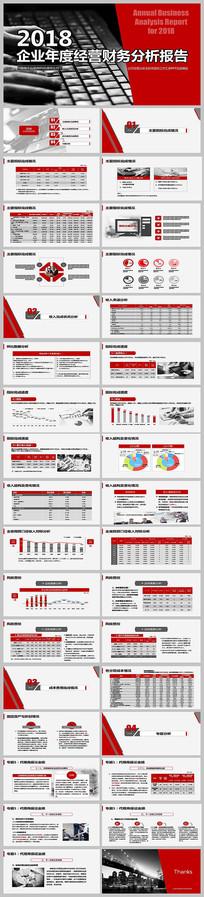财务分析报告数据统计PPT