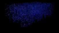 方形立体粒子全息投影视频