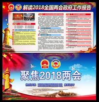 解读2018两会政府工作报告展板