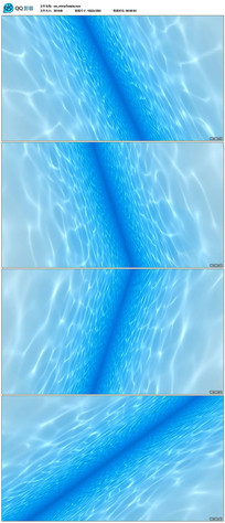 蓝色清澈水波纹视频