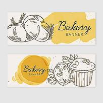 面包标签插图素材