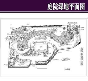 庭院绿地平面图