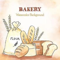 吐司面包袋插图素材