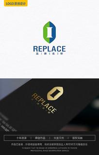 I字母欧式logo设计
