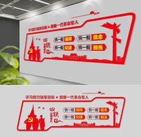 红色经典党建部队文化墙