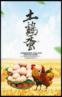 简约土鸡蛋海报设计