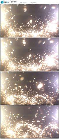 金色粒子背景视频
