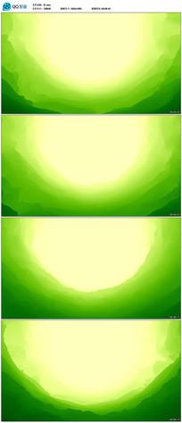 绿色抽象水墨山峦背景视频
