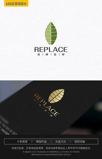 绿叶子logo设计 AI