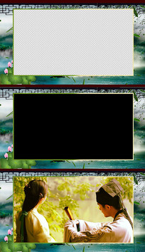 唯美古风边框视频素材