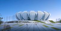 造型体育馆建筑3D模型