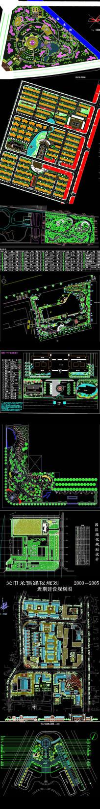 CAD公园平面图
