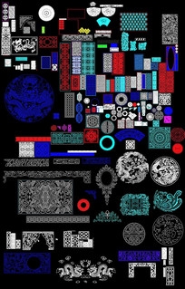 CAD中式花纹图案