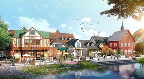 丹麦小镇商业建筑效果图