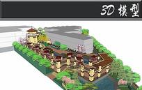 东南亚风别墅住宅SU模型