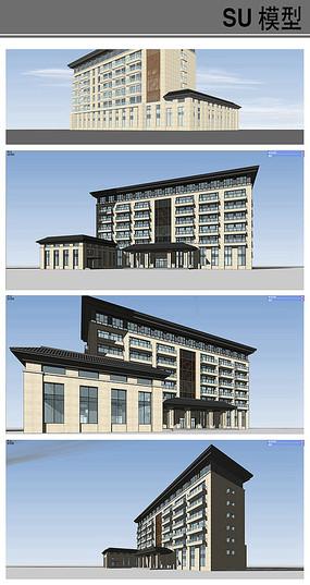酒店会所建筑模型