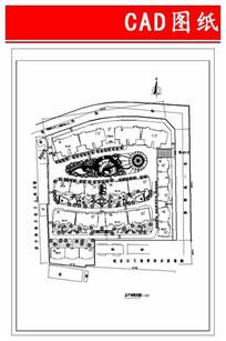 联合旅社小区平面图 CAD