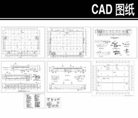 汽车展厅建筑施工图 dwg