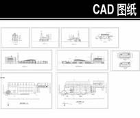 曲型屋顶汽车站建筑设计图