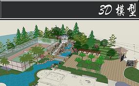 庭院SU总模型