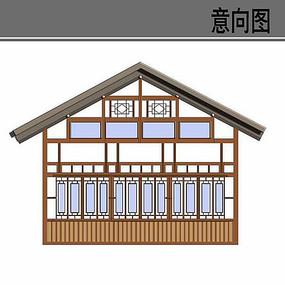 乡村建筑改造方案立面图