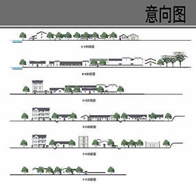 乡村建筑改造立面图