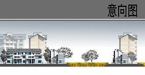 乡村建筑设计立面图