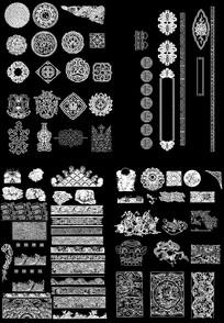 中式图案花纹CAD图