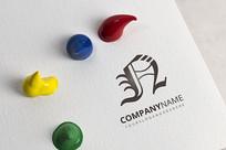 创意n字母logo设计
