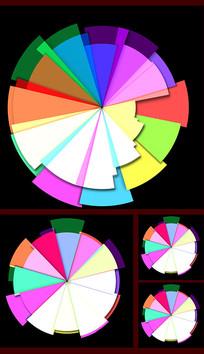 带通道彩色圆盘视频素材