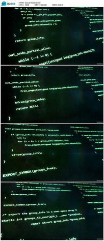 绿色计算机代码