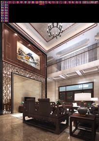 室内自建房cad新中式风格