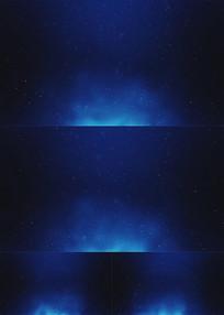 唯美蓝色荧光粒子舞台背景素材 mov