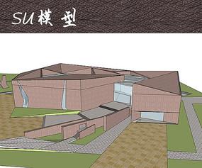文化艺术中心建筑SU