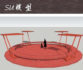 现代儿童活动广场座椅