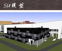 校园艺术建筑SU模型
