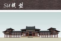 中式古建筑SU
