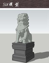 中式石狮雕塑