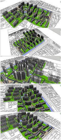 住宅小区景观规划SU模型