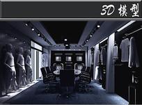 暗黑风服装店3D模型