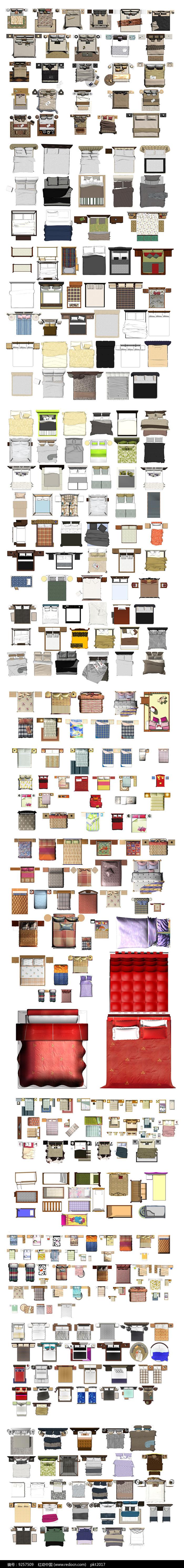 床PSD彩面图集图片